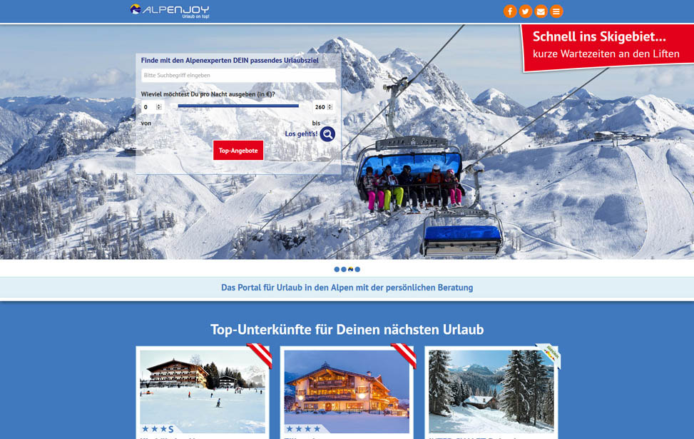 Alpenjoy Reiseportal Wordpress